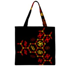 Algorithmic Drawings Zipper Grocery Tote Bag