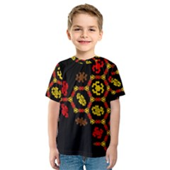 Algorithmic Drawings Kids  Sport Mesh Tee