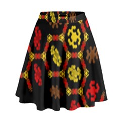 Algorithmic Drawings High Waist Skirt