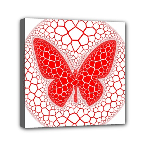 Butterfly Mini Canvas 6  X 6  by Nexatart