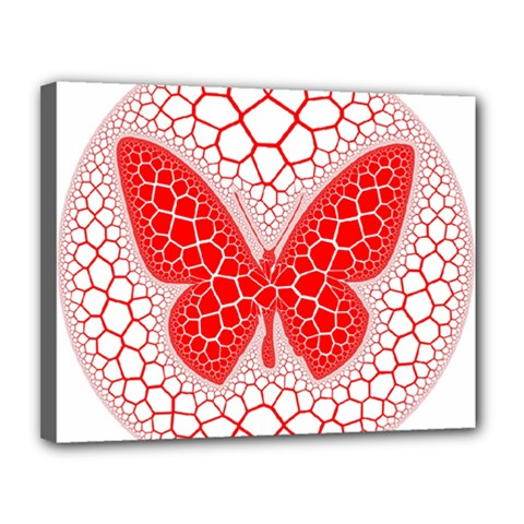 Butterfly Canvas 14  X 11