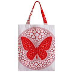 Butterfly Zipper Classic Tote Bag
