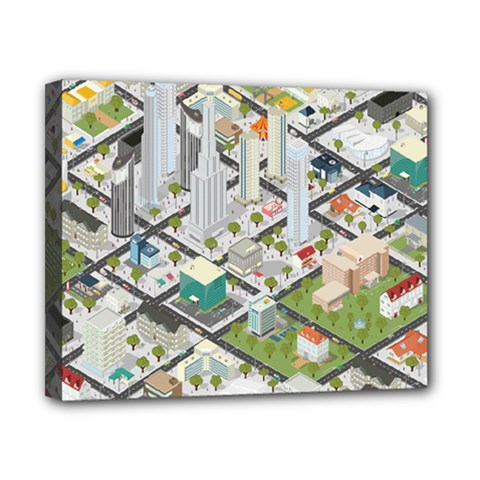 Simple Map Of The City Canvas 10  X 8  by Nexatart