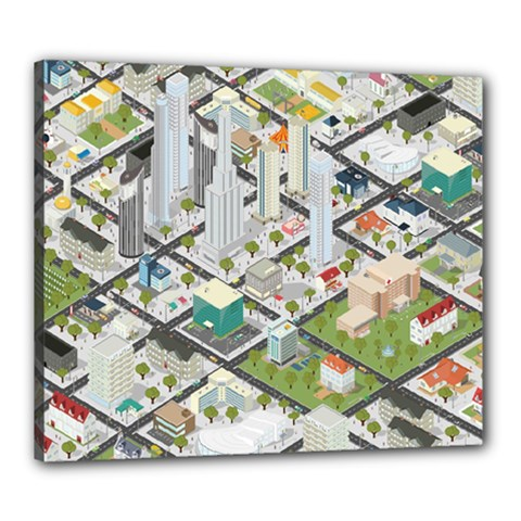 Simple Map Of The City Canvas 24  X 20  by Nexatart