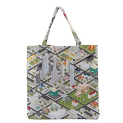 Simple Map Of The City Grocery Tote Bag by Nexatart