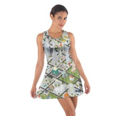 Simple Map Of The City Cotton Racerback Dress