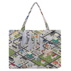 Simple Map Of The City Zipper Medium Tote Bag