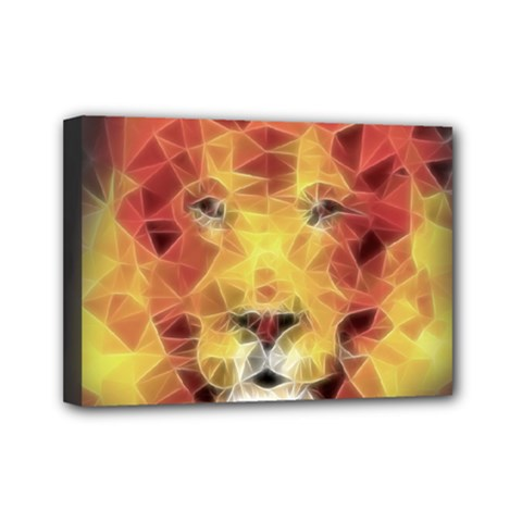 Fractal Lion Mini Canvas 7  X 5