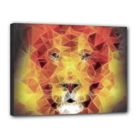 Fractal Lion Canvas 16  X 12  by Nexatart