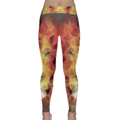 Fractal Lion Classic Yoga Leggings