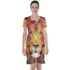 Fractal Lion Short Sleeve Nightdress