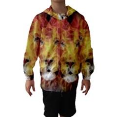 Fractal Lion Hooded Wind Breaker (kids)