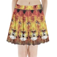 Fractal Lion Pleated Mini Skirt