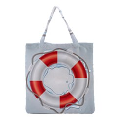 Spare Tire Icon Vector Grocery Tote Bag