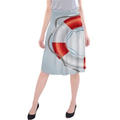 Spare Tire Icon Vector Midi Beach Skirt
