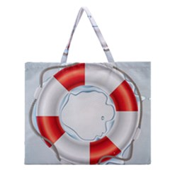 Spare Tire Icon Vector Zipper Large Tote Bag by Nexatart