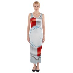 Spare Tire Icon Vector Fitted Maxi Dress