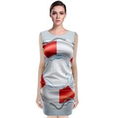 Spare Tire Icon Vector Classic Sleeveless Midi Dress