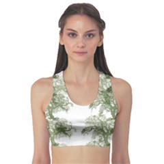 Trees Tile Horizonal Sports Bra
