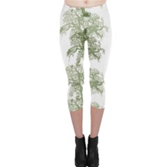 Trees Tile Horizonal Capri Leggings