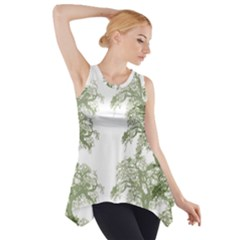 Trees Tile Horizonal Side Drop Tank Tunic