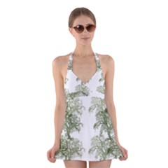 Trees Tile Horizonal Halter Swimsuit Dress