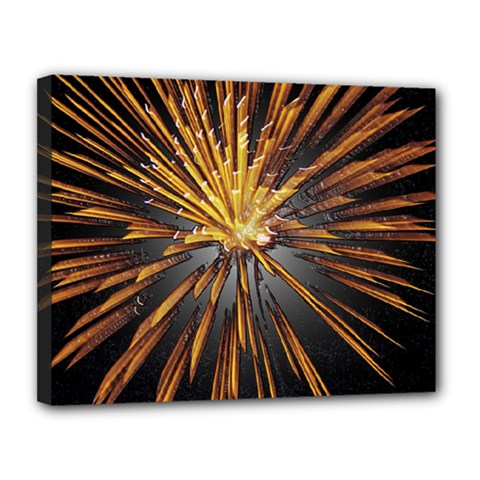 Pyrotechnics Thirty Eight Canvas 14  X 11  by Nexatart