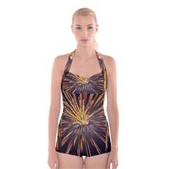 Pyrotechnics Thirty Eight Boyleg Halter Swimsuit