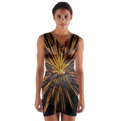 Pyrotechnics Thirty Eight Wrap Front Bodycon Dress