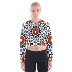 Mandala Art Ornament Pattern Cropped Sweatshirt