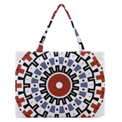 Mandala Art Ornament Pattern Zipper Medium Tote Bag