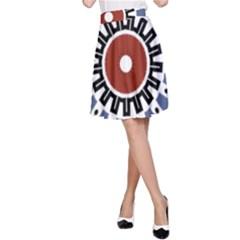 Mandala Art Ornament Pattern A Line Skirt