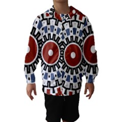 Mandala Art Ornament Pattern Hooded Wind Breaker (kids)