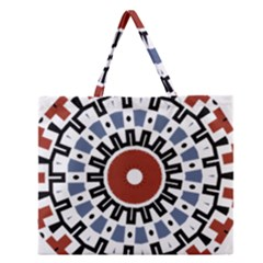 Mandala Art Ornament Pattern Zipper Large Tote Bag