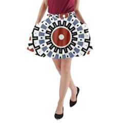 Mandala Art Ornament Pattern A Line Pocket Skirt