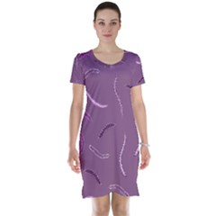 Plumelet Pen Ethnic Elegant Hippie Short Sleeve Nightdress