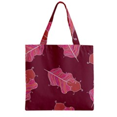 Plumelet Pen Ethnic Elegant Hippie Zipper Grocery Tote Bag by Nexatart