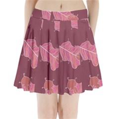 Plumelet Pen Ethnic Elegant Hippie Pleated Mini Skirt