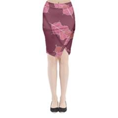 Plumelet Pen Ethnic Elegant Hippie Midi Wrap Pencil Skirt