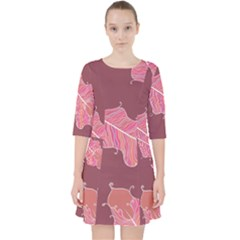 Plumelet Pen Ethnic Elegant Hippie Pocket Dress
