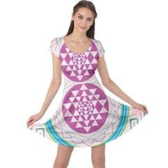 Mandala Design Arts Indian Cap Sleeve Dress