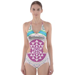 Mandala Design Arts Indian Cut Out One Piece Swimsuit