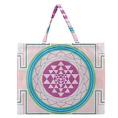 Mandala Design Arts Indian Zipper Large Tote Bag by Nexatart