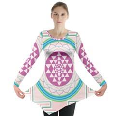Mandala Design Arts Indian Long Sleeve Tunic