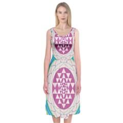 Mandala Design Arts Indian Midi Sleeveless Dress
