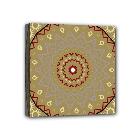 Mandala Art Ornament Pattern Mini Canvas 4  X 4  by Nexatart