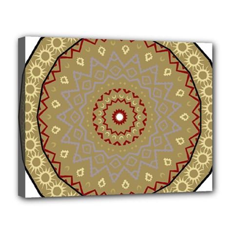 Mandala Art Ornament Pattern Canvas 14  X 11