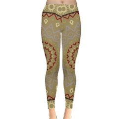Mandala Art Ornament Pattern Leggings  by Nexatart