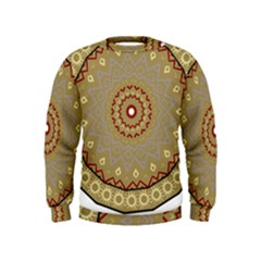 Mandala Art Ornament Pattern Kids  Sweatshirt