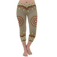 Mandala Art Ornament Pattern Capri Winter Leggings